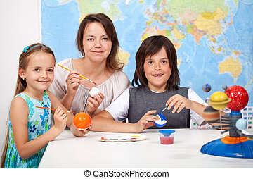 Ciencia, y, arte, -, niños, Elaboración, el,...