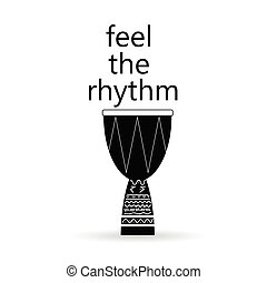 feel the rhythm drum vector illustration - feel the rhythm...
