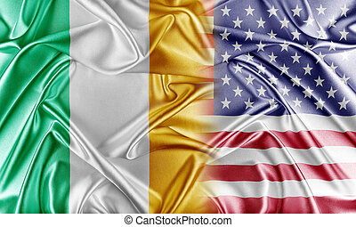 USA and Ireland Relations between two countries Conceptual...