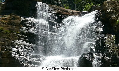 Waterfall Ramboda in Sri Lanka