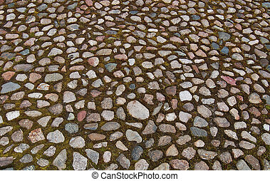 Stone blocks in the walkway