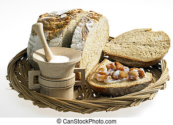 bread with lard and scraps