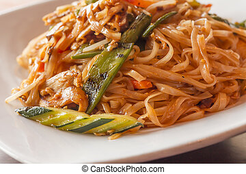 Pad Thai Chicken - Authentic spicy Pad Thai with chicken...