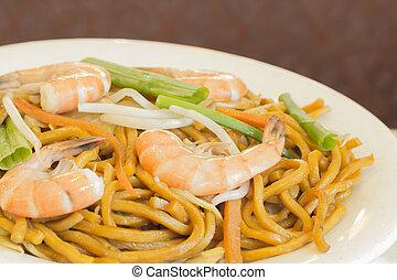 Shrimp Lo Mein - Authentic Chinese Shrimp lo mein noodles at...