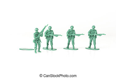 Army Man Independence - Green army man steps off his foot...