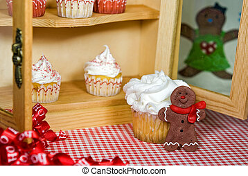 The Sweet Spot - Holiday baked goods in a kitchen cupboard.