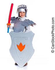 Boy dressed as a Knight