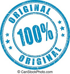 100 original vector stamp on white background