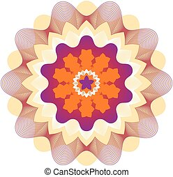 Rosette - Guilloche Rosette Vector Illustration