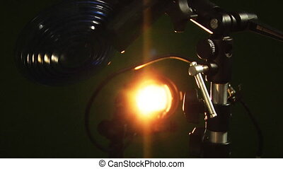 professional light - close-up professional light source in...