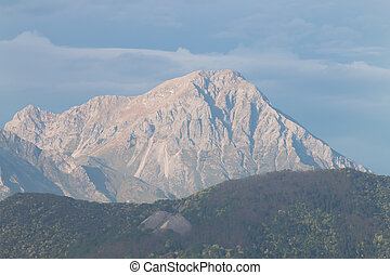 Pania della Croce mountain of apuane alps in Tuscany viewed...
