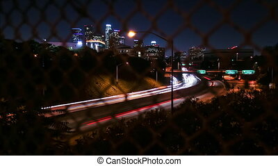 DTLA 101 Freeway Time-lapse - Time-lapse view from the Echo...