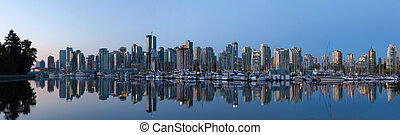Vancouver BC City Skyline by the Harbor - Vancouver British...
