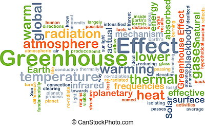 Greenhouse effect background concept - Background concept...