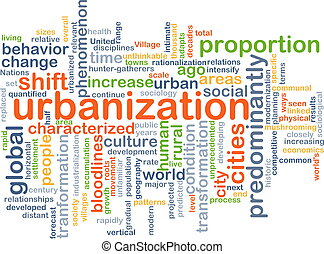 Urbanization background concept - Background concept...