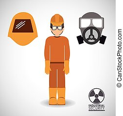 Industrial Security design over white background, vector...