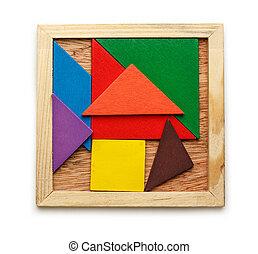 Pentamino for children in magic square - Pentamino puzzle...