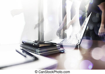 Abstract Image of Business creative designer working at office as concept