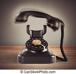 Ringing vintage phone - Image representing a ringing vintage...