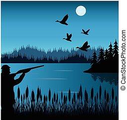 Hunt on duck