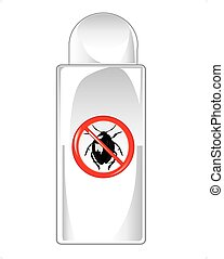 Vial repellent on white background is insulated