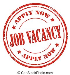 Job Vacancy - Grunge rubber stamp with text Job...