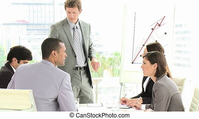 Business team talking in a meeting - Footage in high...