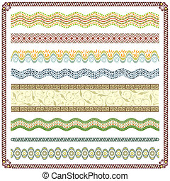 Pattern Border - Vector illustration, Colors are grouped and...