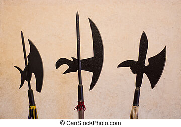 weaponry - Combat weapons of ancient times from the past