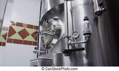 modern German brewery laboratory production with sensor -...