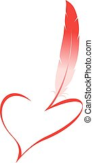 easy valentine heart isolated on the white background
