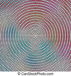 Concentric Mosaic Pattern - Vector Abstract Concentric...