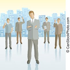 Vector silhouettes of business people
