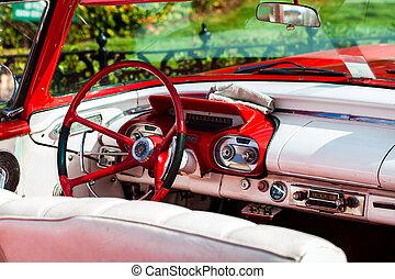 ruota, Automobile, americano, direzione,  cuba