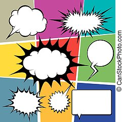 Big Set Of Bubble Speech - vector set of comics style speech...