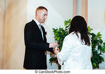 wedding ceremony in a registry office, marriage - wedding...
