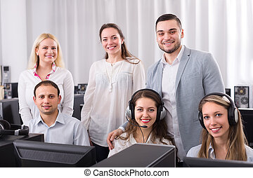 Technical support working in call center - Employees of...