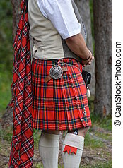 Scottish Kilt - Man in scottish kilt standing in the...