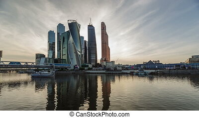 Business Center Moscow City, time-lapse