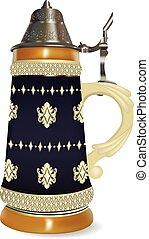 German beer steinTraditional beer mug