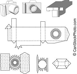 Camera paper Paper Cuttings camera for your design or hobby...