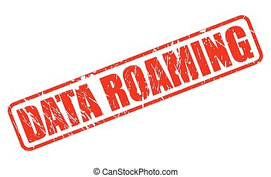 Data roaming red stamp text on white