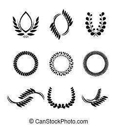 collection of vector laurel wreaths for award - collection...