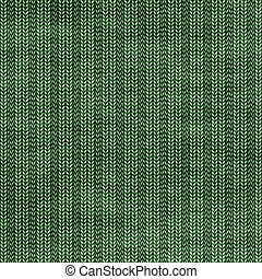 Knit background - Abstract generated green kniting pattern...