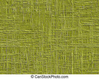 Fiber background - Abstract generated green rough fiber...