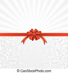 gift - white background with ribbon for gifts