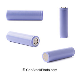 Violet rechargeable battery isolated - Violet rechargeable...