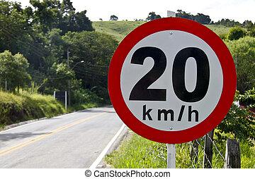 Regulatory board speed on road 20 5140 - Regulatory board...