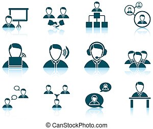 Set of business people icon EPS 10 vector illustration...