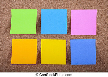 Sticky Notes on a Noticeboard